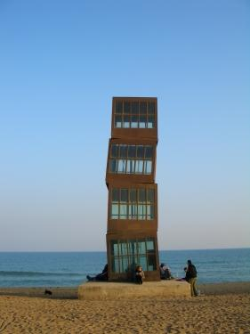 Structure on beach